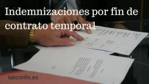 Retenciones en las indemnizaciones por fin de contrato temporal